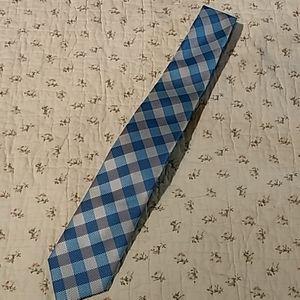 Nautica, tie with blue and silver checks.